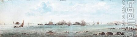 Shipping Off Elizabeth Castle, Jersey by Charles Gore - Reproduction Oil Painting
