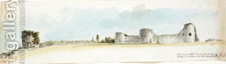 Views Of Pevensey Castle, Sussex by Charles Gore - Reproduction Oil Painting