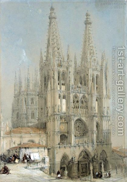 Burgos Cathedral, Spain by David Roberts - Reproduction Oil Painting