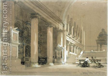 Interior Of The Church Of San Lorenzo, Rome by David Roberts - Reproduction Oil Painting