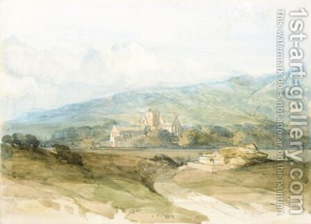 The Priory Of Pluscarden, Morayshire by David Roberts - Reproduction Oil Painting