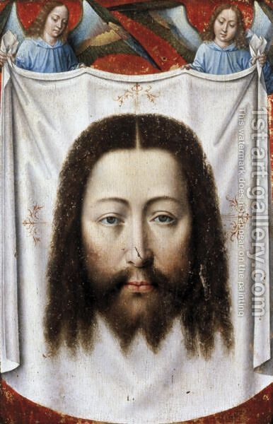 Angels Supporting The Veil Of Saint Veronica by Belgian Unknown Masters - Reproduction Oil Painting