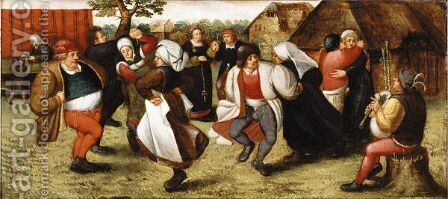 The Peasant Dance by (after) Marten Van Cleve - Reproduction Oil Painting