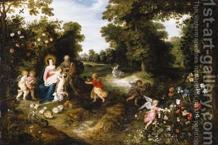 The Rest On The Flight Into Egypt by Jan, the Younger Brueghel - Reproduction Oil Painting