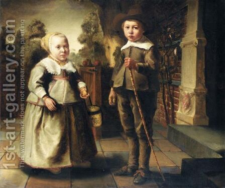 The Children Of The De Potter Family by (after) Jacob Gerritsz. Cuyp - Reproduction Oil Painting