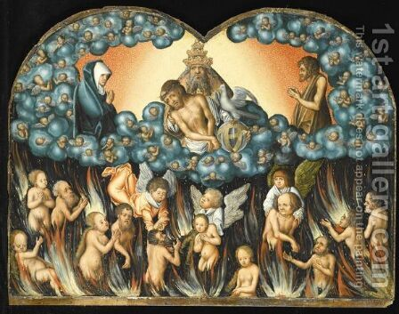 The Descent Into Purgatory by (after) Lucas The Elder Cranach - Reproduction Oil Painting
