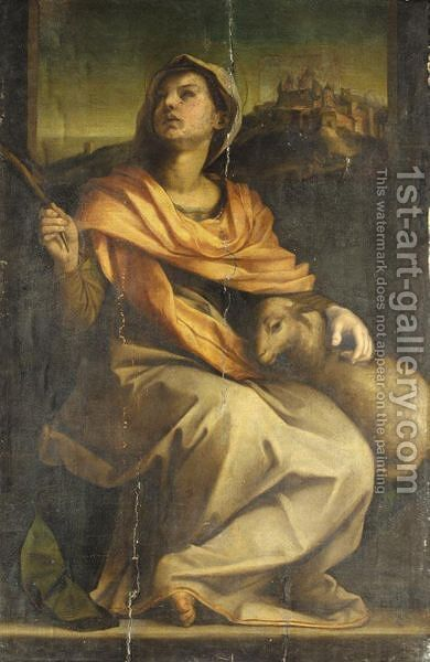 Saint Agnes by (after) Andrea Del Sarto - Reproduction Oil Painting