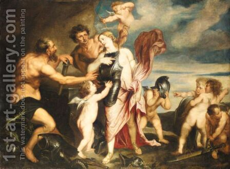 Venus Relieving Mars Of His Arms by (after) Dyck, Sir Anthony van - Reproduction Oil Painting