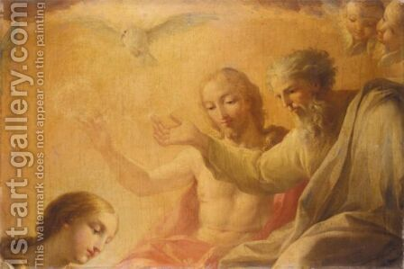 The Virgin Before The Holy Trinity by (after) Mengs, Anton Raphael - Reproduction Oil Painting