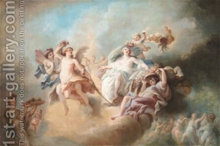 The Triumph Of Flora by (after) Francois Boucher - Reproduction Oil Painting