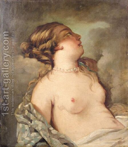 A Reclining Nude by (after) Francois Boucher - Reproduction Oil Painting