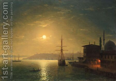 Constantinople By Moonlight by Ivan Konstantinovich Aivazovsky - Reproduction Oil Painting