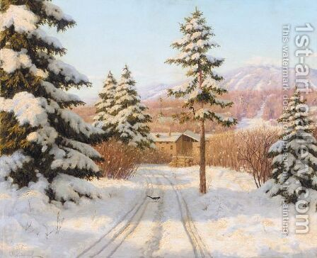 Winter Sun by Boris Vasilievich Bessonov - Reproduction Oil Painting