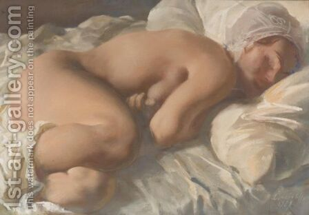Resting Figure by Alexander Evgenievich Yakovlev - Reproduction Oil Painting
