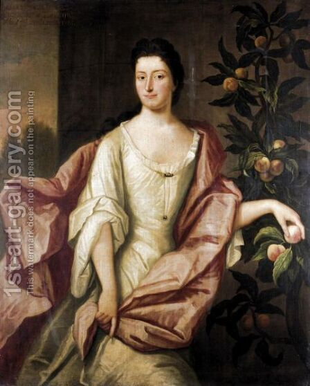 Portrait Of Anne, Wife Of The 7th Lord Elphinstone by (after) Kneller, Sir Godfrey - Reproduction Oil Painting