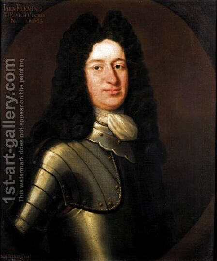 Portrait Of John Fleming, 6th Earl Of Wigton (1673-1744) by Benjamin Ferrers - Reproduction Oil Painting