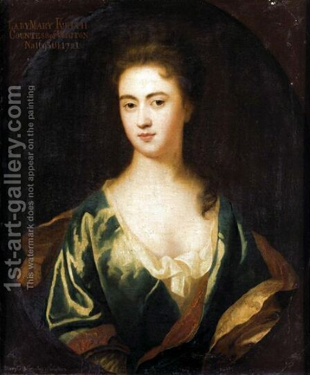 Portrait Of Lady Mary Keith, Countess Of Wigton (1695-1721), 2nd Wife Of John Fleming, 6th Earl Of Wigton by (after) Kneller, Sir Godfrey - Reproduction Oil Painting