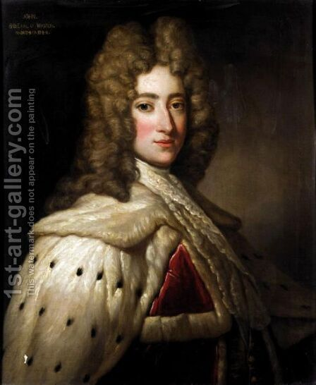 Portrait Of John, 6th Earl Of Wigton by (after) Kneller, Sir Godfrey - Reproduction Oil Painting