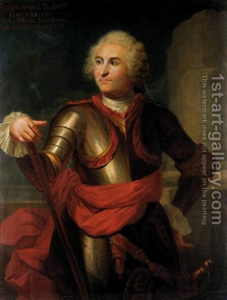 Portrait Of Field Marshal, The Hon. James Keith (1696-1758) by (after) Alexis-Simon Belle - Reproduction Oil Painting