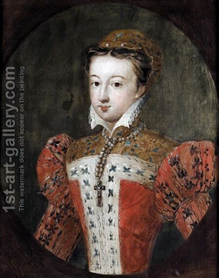 Portrait Of A Lady, Traditionally Identified As Mary Queen Of Scots by (after) Jean Clouet - Reproduction Oil Painting