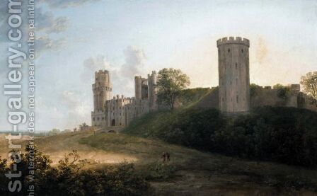 View Of Warwick Castle, The South East Front by (after) Alexander Nasmyth - Reproduction Oil Painting