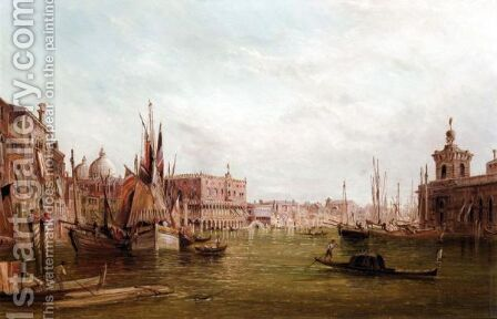 The Doge's Palace, Venice by Alfred Pollentine - Reproduction Oil Painting