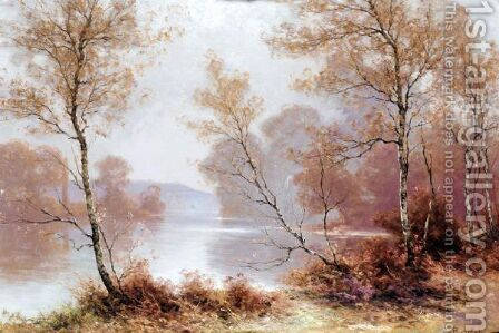 Autumn On The Riverbank by Albert Gabriel Rigolot - Reproduction Oil Painting