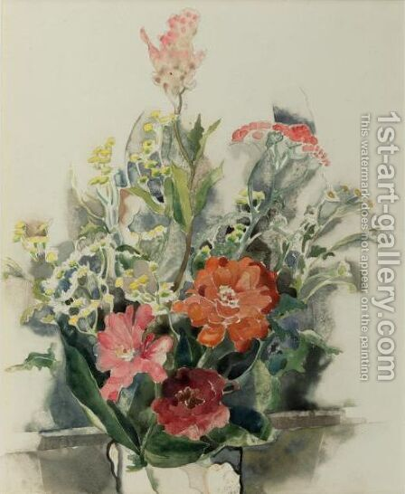 Zinnia Bouquet by Charles Demuth - Reproduction Oil Painting
