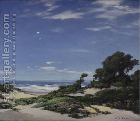 Coast Of Carmel by Henry Joseph Breuer - Reproduction Oil Painting