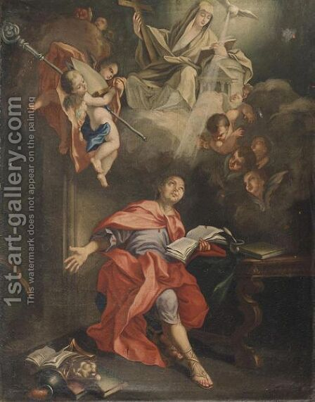 Santo Vescovo Ispirato Dallo Spirito Santo by Italian School - Reproduction Oil Painting