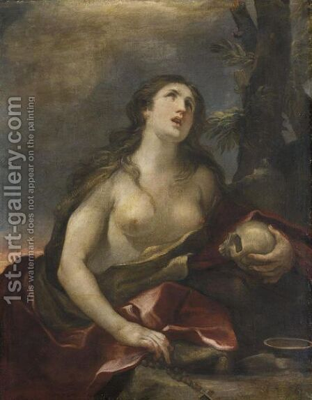 Maddalena Penitente by (after) Guido Reni - Reproduction Oil Painting