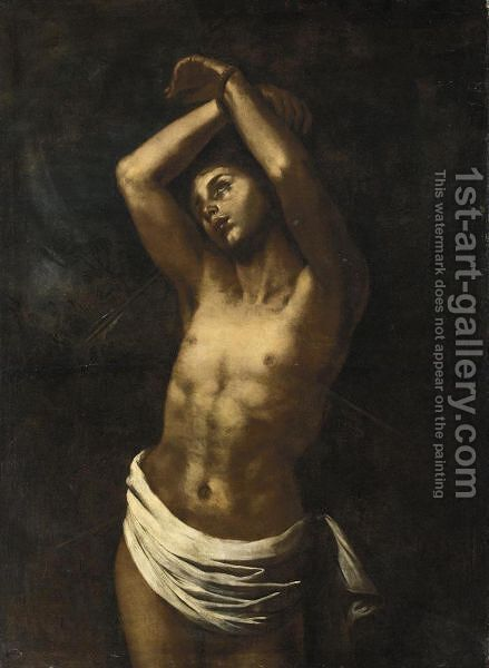 San Sebastiano by (after) Niccolo Renieri (see Regnier, Nicolas) - Reproduction Oil Painting