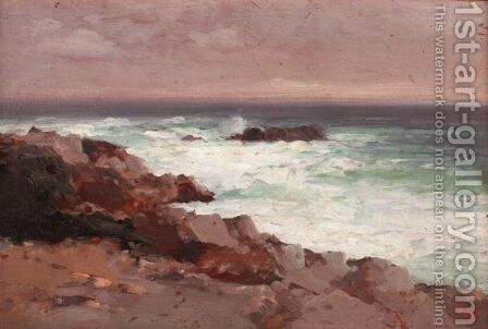 Waves Breaking On The Rocks by Aleksei Vasilievich Hanzen - Reproduction Oil Painting