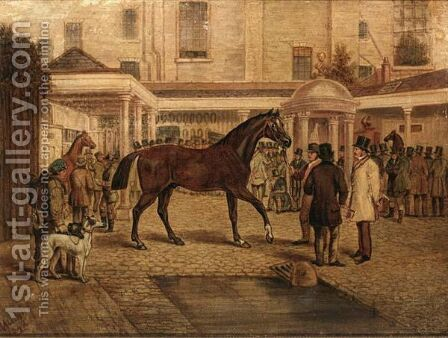 Sale At Old Tattersall'S by Henry Jnr Alken - Reproduction Oil Painting