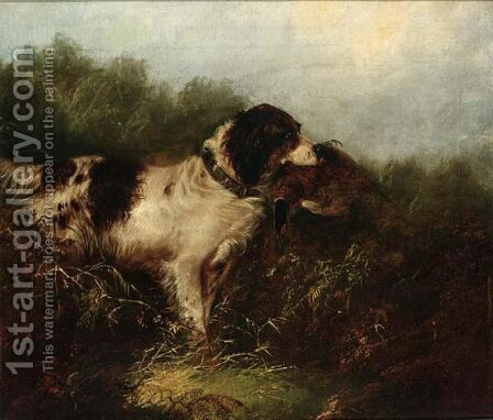 The Pheasant Hunt by (after) George Armfield - Reproduction Oil Painting