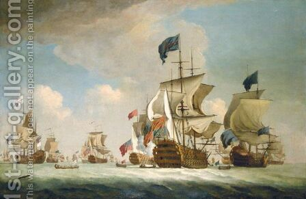 The English Fleet At Sea by (after) Peter Monamy - Reproduction Oil Painting
