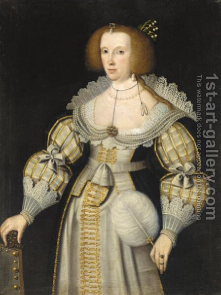 Portrait Of A Lady by (after) Marcus The Younger Gheeraerts - Reproduction Oil Painting