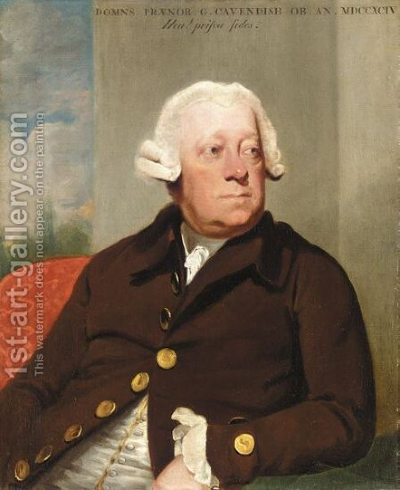 Portrait Of Lord George Cavendish (C. 1727-1794) by Mather Brown - Reproduction Oil Painting