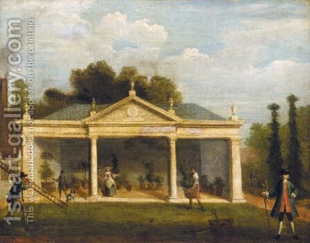 View Of Vauxhall Gardens by (after) Samuel Wale - Reproduction Oil Painting