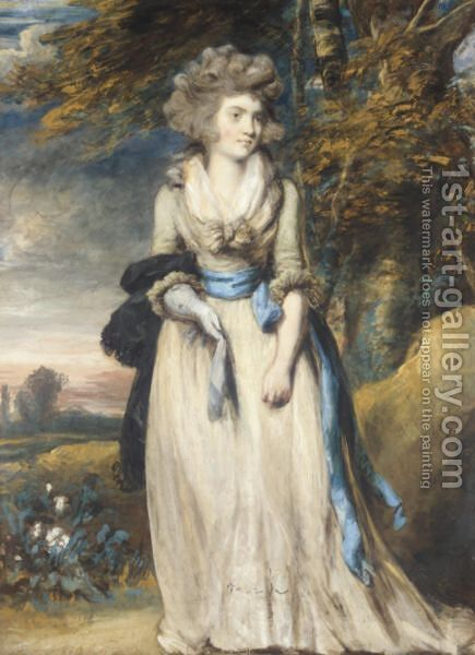 Portrait Of A Lady by Daniel Gardner - Reproduction Oil Painting