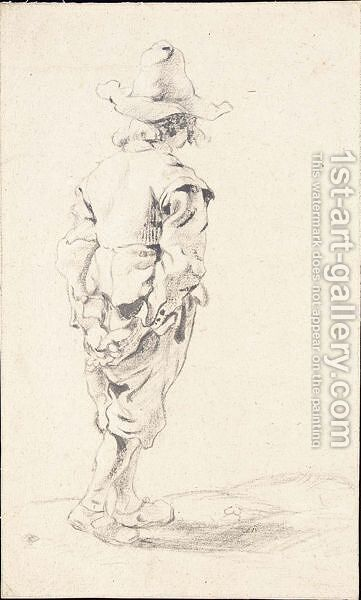 Study Of A Standing Boy In A Hat, Seen From Behind by Dutch School - Reproduction Oil Painting