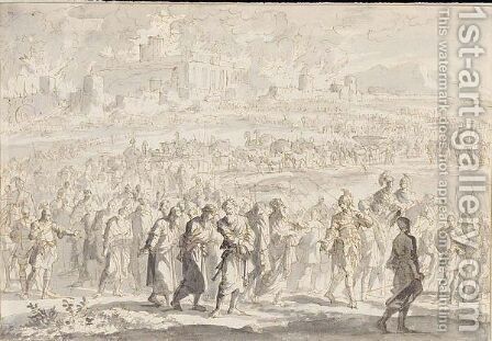 The Defeated Israelites Led From Jerusalem by Jan Luyken - Reproduction Oil Painting