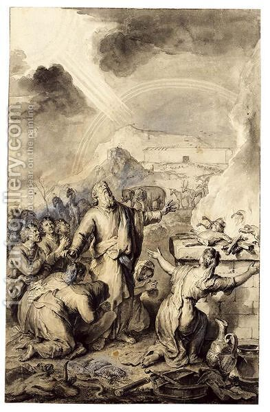 Moses And The Burning Bush By Gerard Hoet
