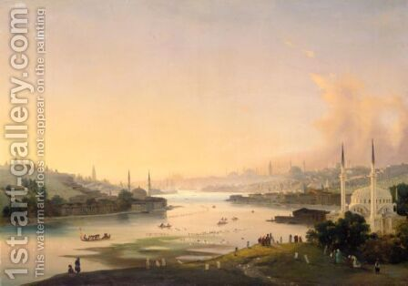 The Golden Horn by Ippolito Caffi - Reproduction Oil Painting