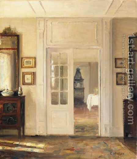 Interior 2 by Carl Vilhelm Holsoe - Reproduction Oil Painting