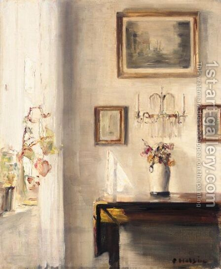 Sunlit Corner by Carl Vilhelm Holsoe - Reproduction Oil Painting