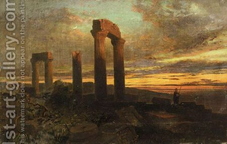 Sunset Among Ruins by Harry John Johnson - Reproduction Oil Painting