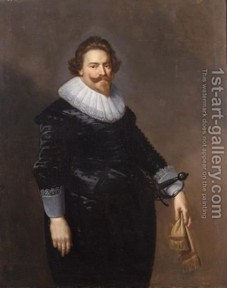 A Portrait Of Ernst Van Reede (Died 1640), Lord Of De Vuursche And Drakestein by (after) Paulus Moreelse - Reproduction Oil Painting