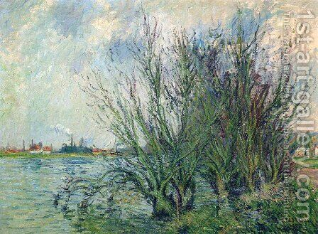 Saules, Bords De L'Oise by Gustave Loiseau - Reproduction Oil Painting