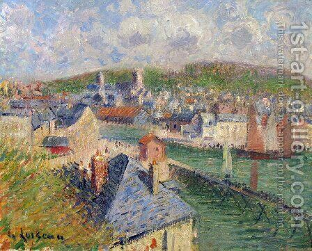 L'Avant-Port De Fecamp by Gustave Loiseau - Reproduction Oil Painting
